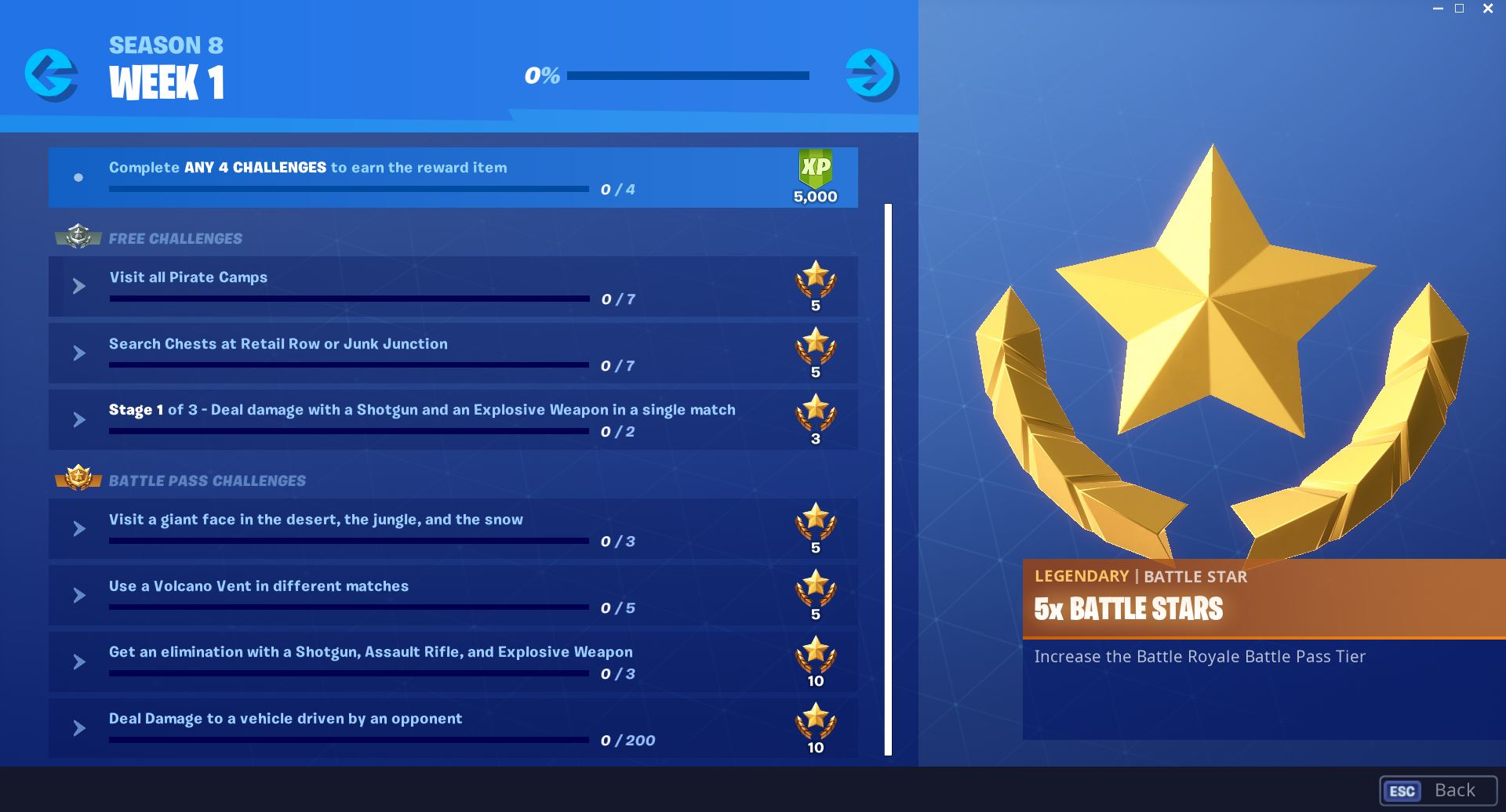 Fortnite Season 8, Week 1 Challenges