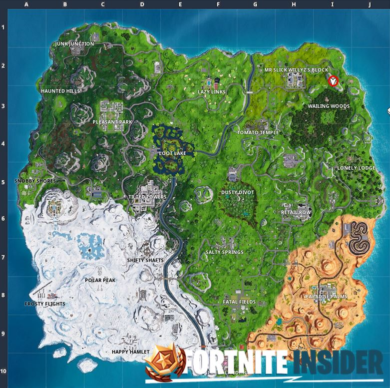 Fortnite The Prisoner Skin Stage 4 Location