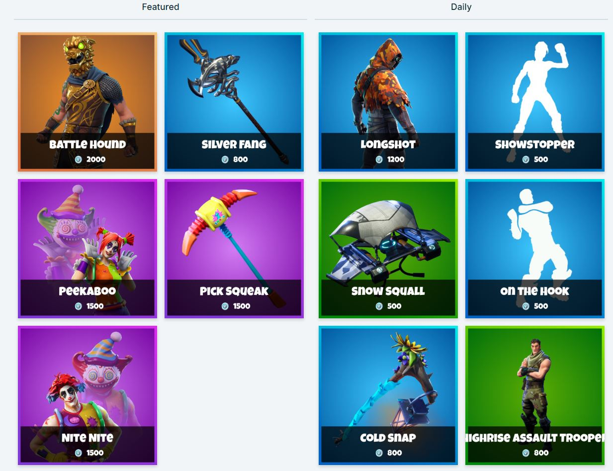 Fortnite shop 7th Feb