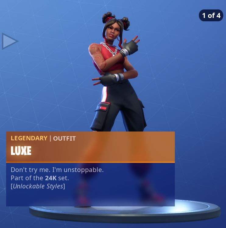 Fortnite Skin Luxe Style 1
