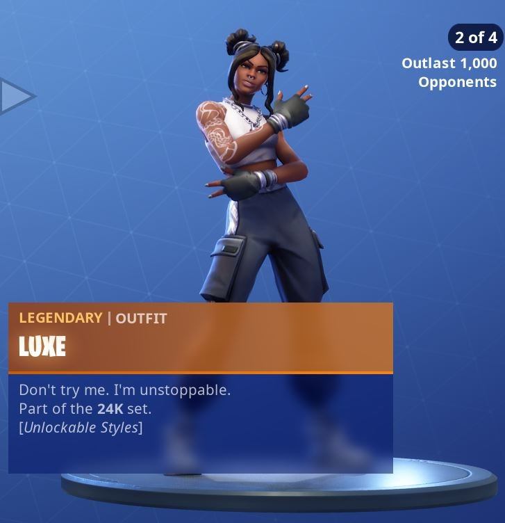 Fortnite Skin Luxe Style 2