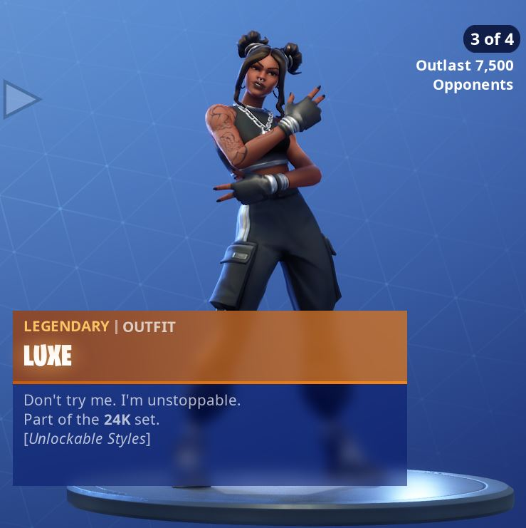 Fortnite Skin Luxe Style 3