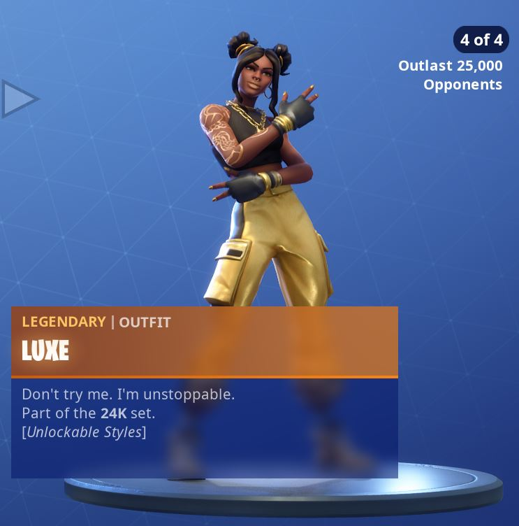 Fortnite Skin Luxe Style 4