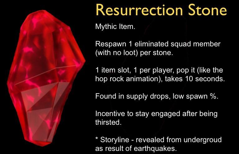 Resurrection Stone Fortnite Concept