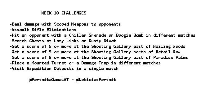 Season 7, Week 10 Leaked Fortnite Challenges