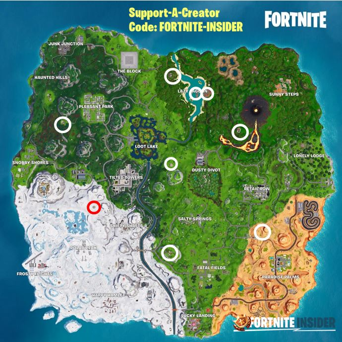 Fortnite Season 8 Week 10 Cheat Sheet and Guide