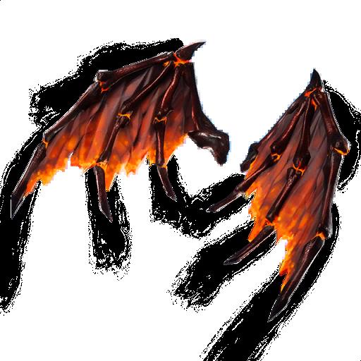 Molten Valkyrie Wings (Legendary Back Bling)