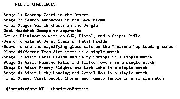 Fortnite Challenges for Season 8, Week 3 Leaked