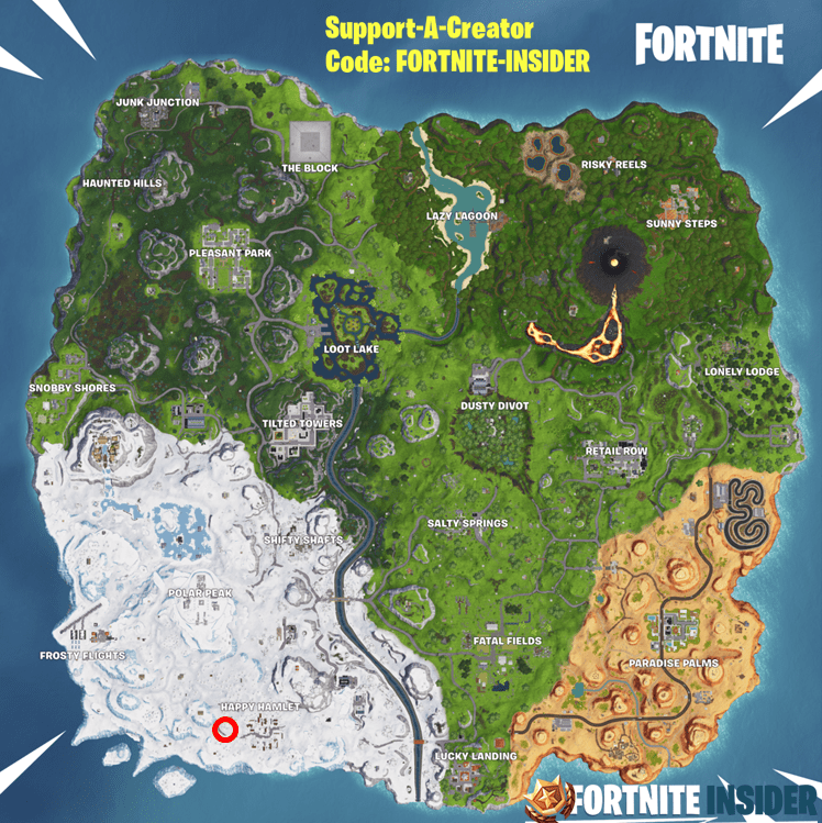 Fortnite Happy Hamlet Race Track Location