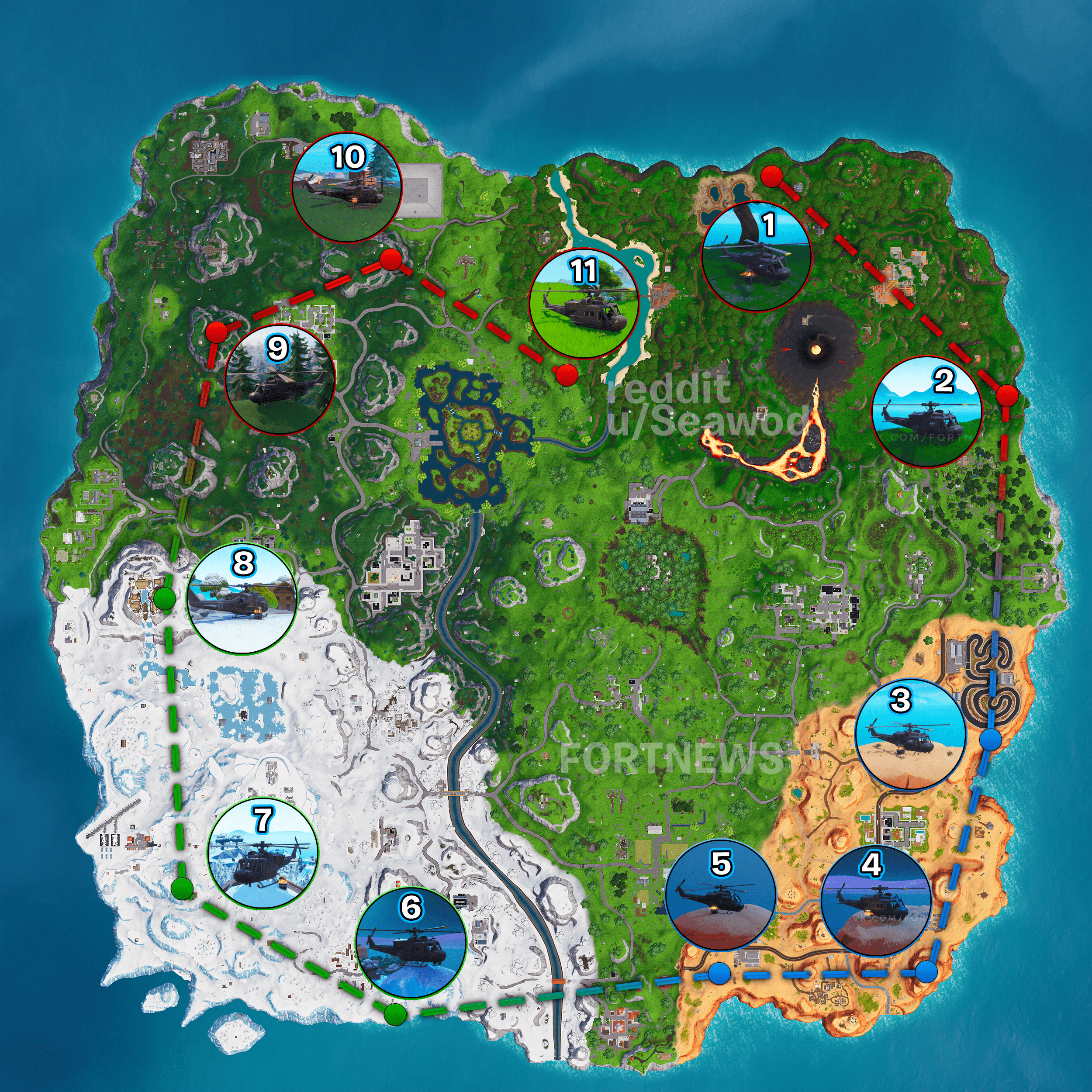 Fortnite Helicopter Map