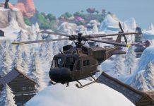 Fortnite Helicopter near Frosty Flights