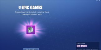 Fortnite High Stakes Challenges Screen