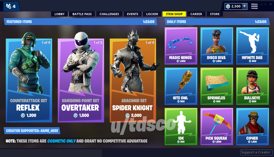 Fortnite Item Shop Redesign