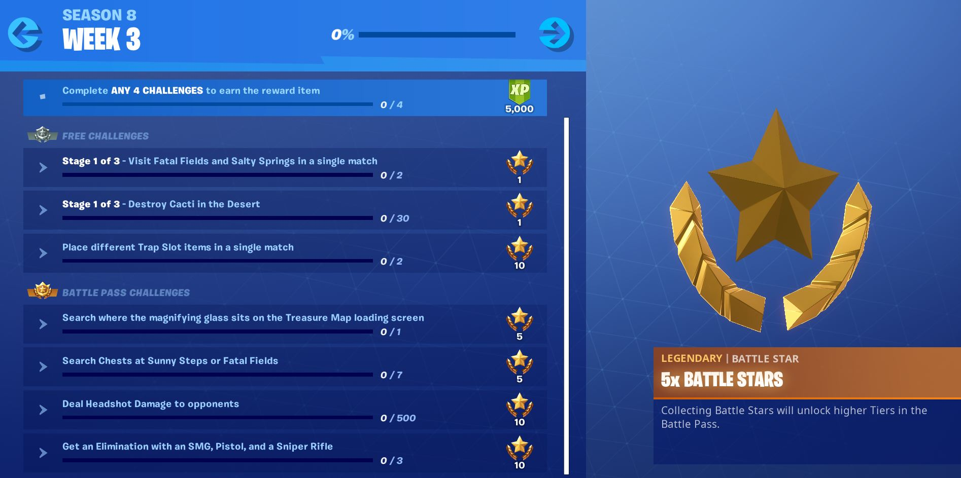 Fortnite Season 8, Week 3 Challenges Official