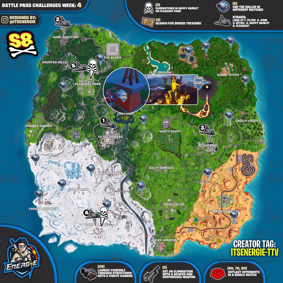 Fortnite follow the map in pleasant park
