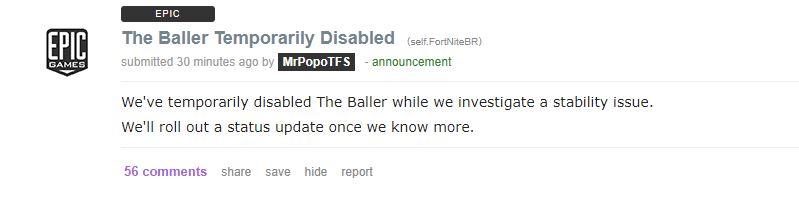 Fortnite The Baller Vehicle Disabled