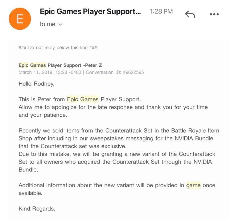 Fortnite GeForce Counterattack Set Owners to Receive New