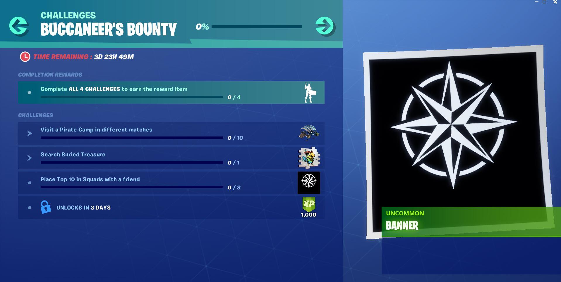 Buccaneers Bounty Challenge and Reward - Day 3