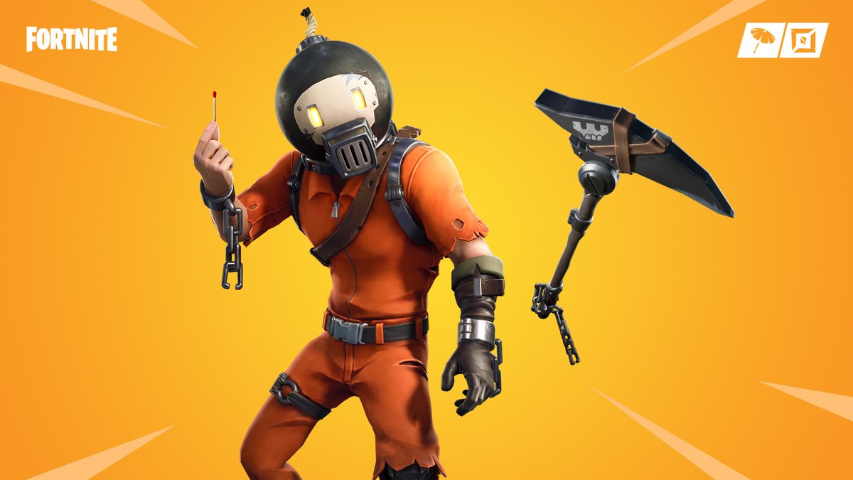 New Splode Fortnite Skin and Shrapnel Pickaxe