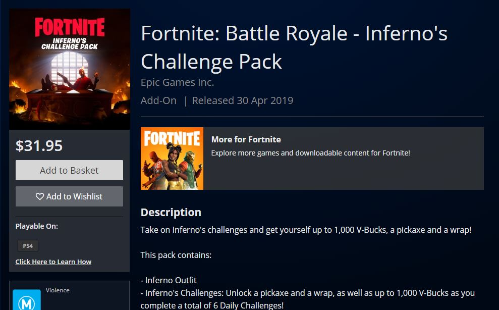 Fortnite Inferno Challenge Pack Available April 30th - Skin