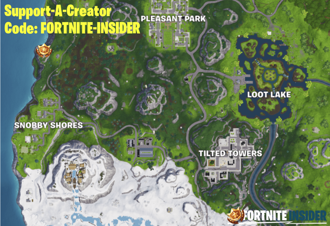 Fortnite Discovery Season 8, Week 7 Battle Star Location Map