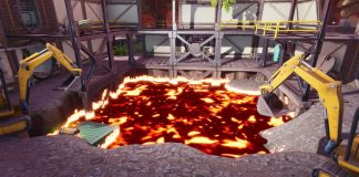 Fortnite Dusty Divot Dig Site Lava