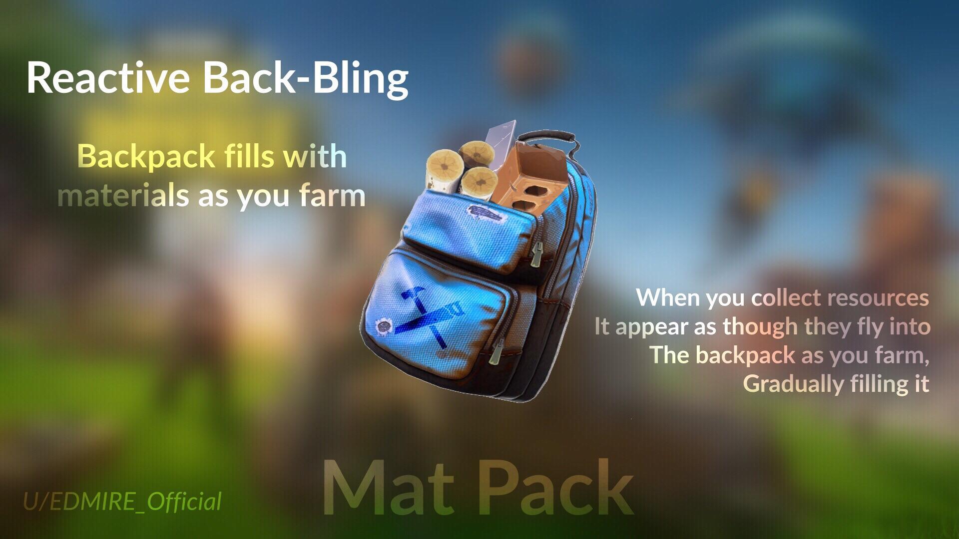 Fortnite MatPack Back Bling Concept