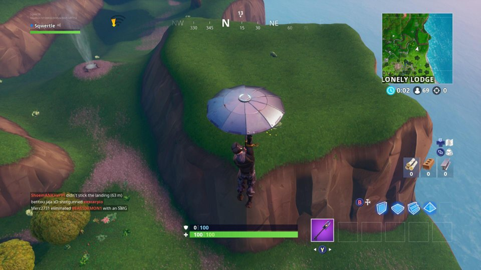 fortnite potential dig spot near lonely lodge - excavation site fortnite