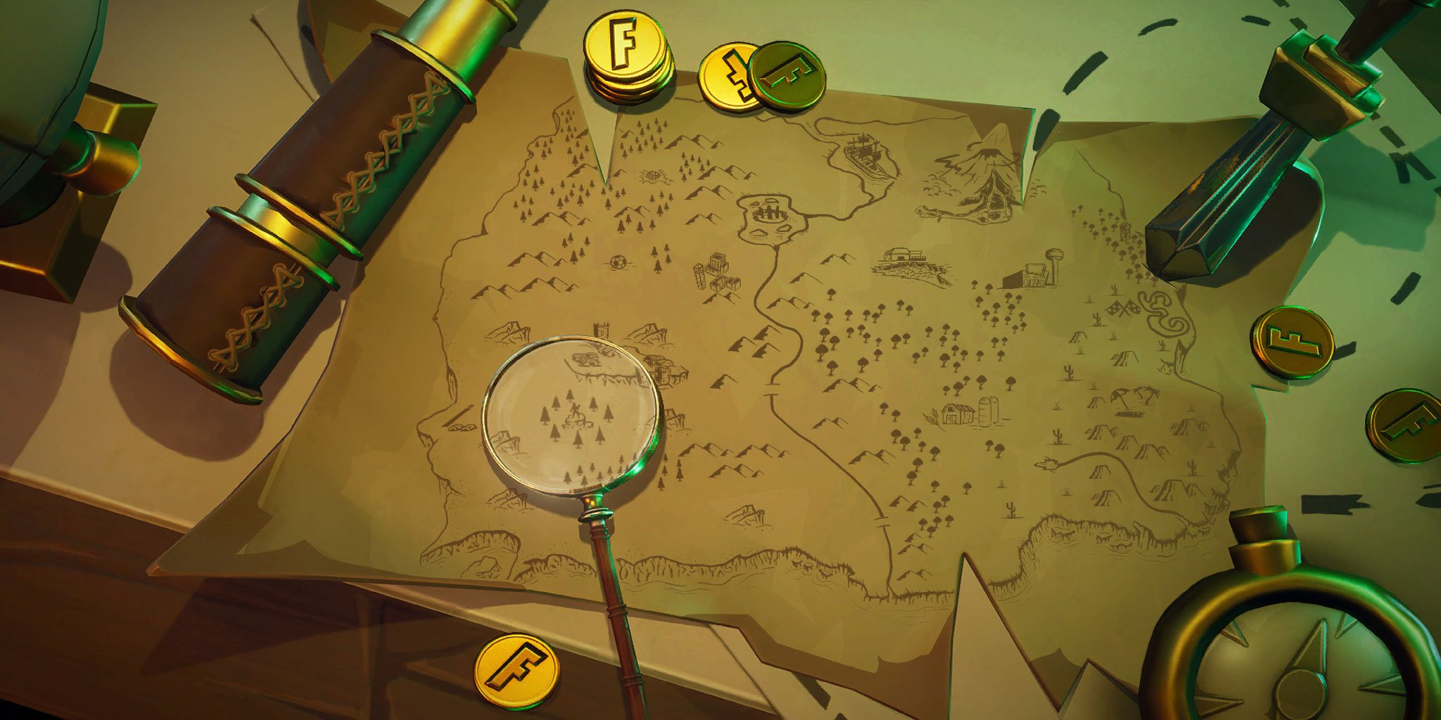 Fortnite Treasure Map Loading Screen - Season 8, Week 6 Challenges
