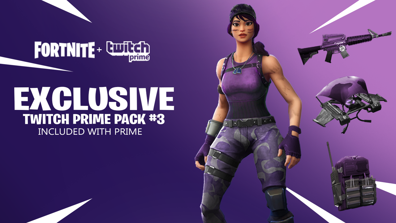 fortnite twitch prime pack 3 concept - twitch prime fortnite link account
