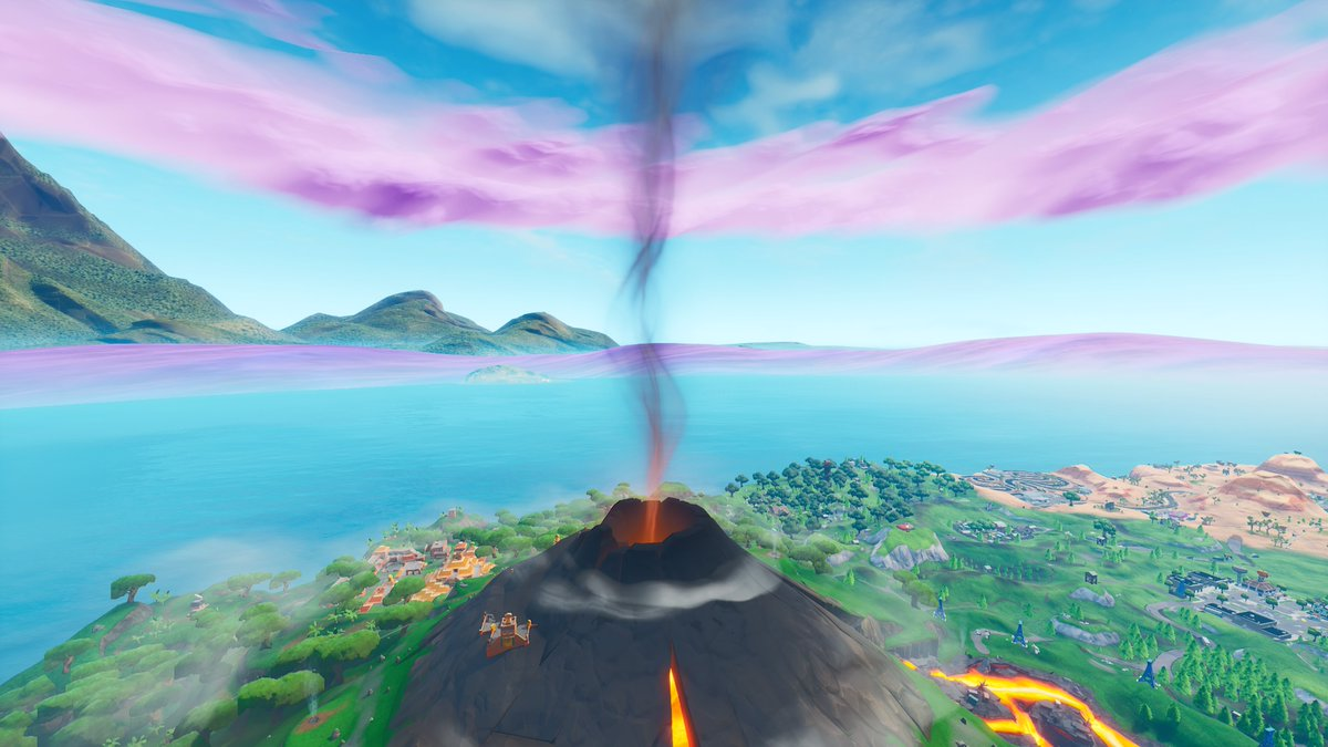 Fortnite volcano destroys Tilted Towers during Unvaulting event