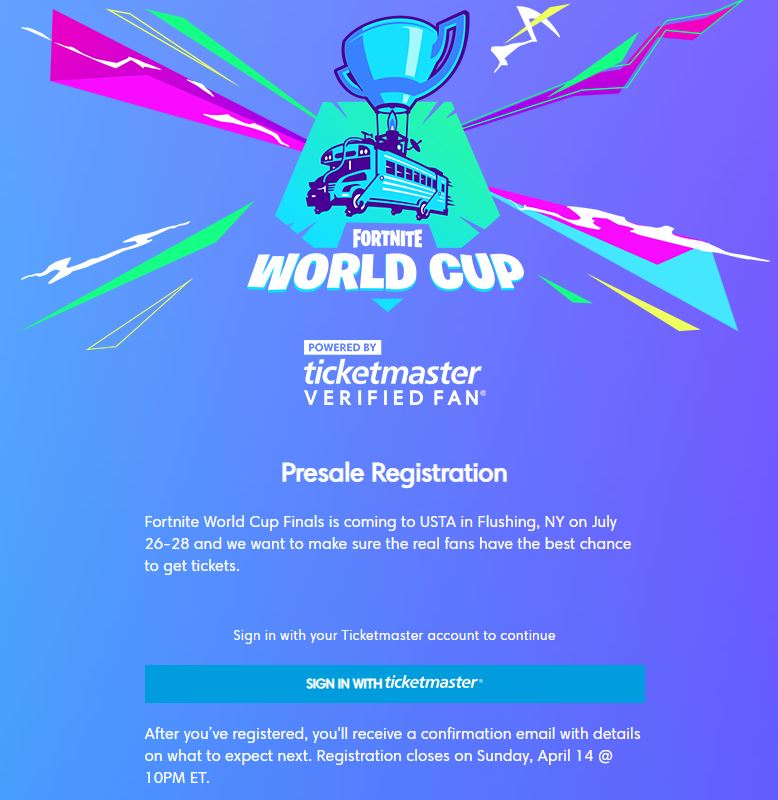 Fortnite World Cup Tickets To Come With Free V-Bucks and ...