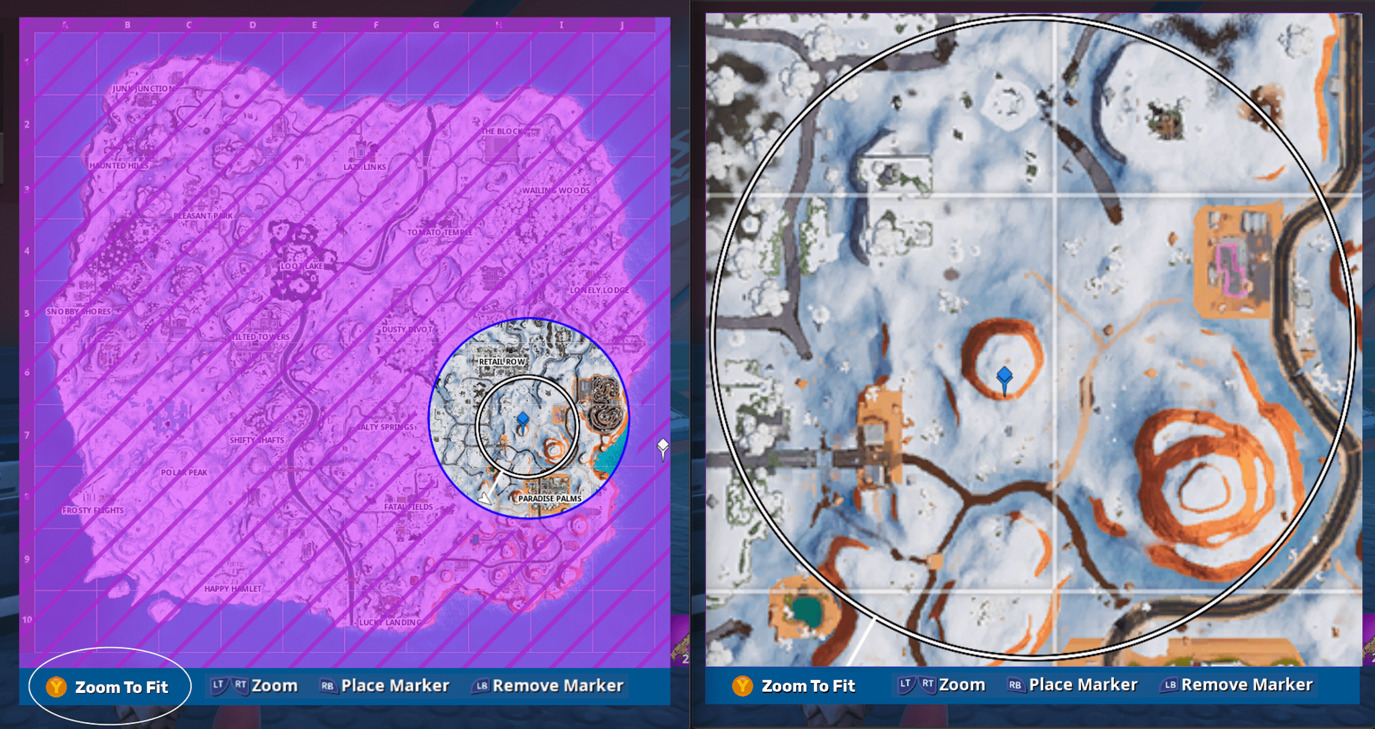 Fortnite Zoom to Fit Map Concept