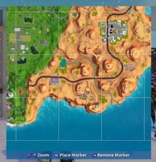 Fortnite Zooming into Map