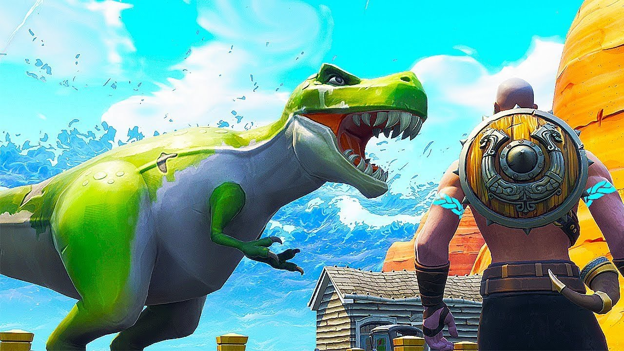 Fortnite three dinosaurs