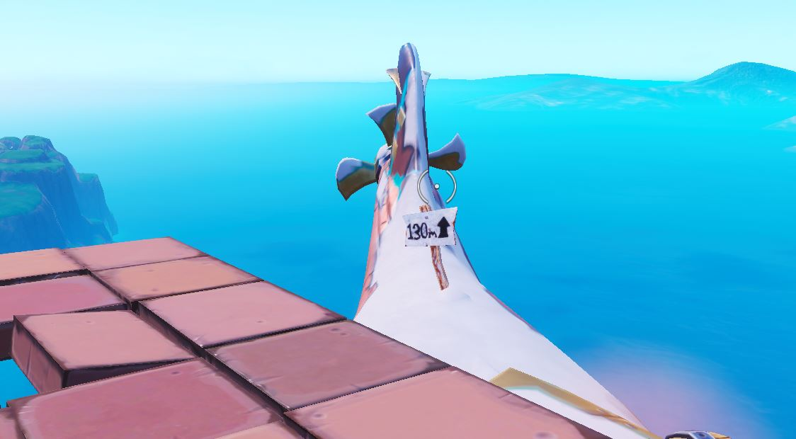 Submarine Highest Elevation Point Fortnite Challenge