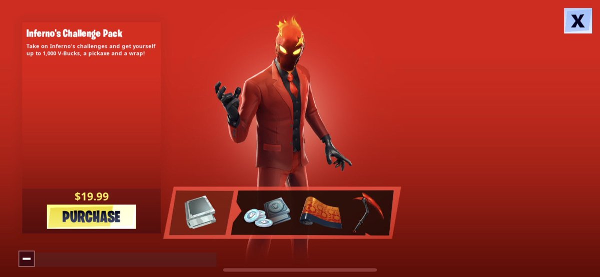 Fortnite Infernos Skin Challenge Pack Available Worldwide