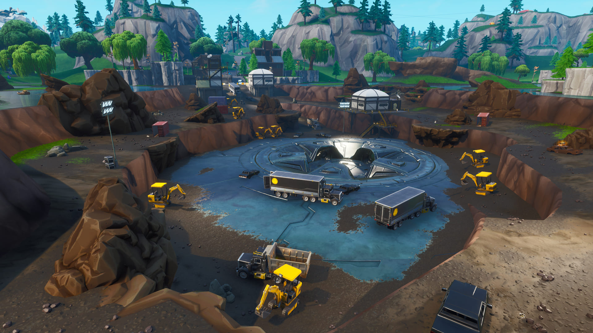 loot lake excavation site v8 40 update - fortnite update 840 map changes