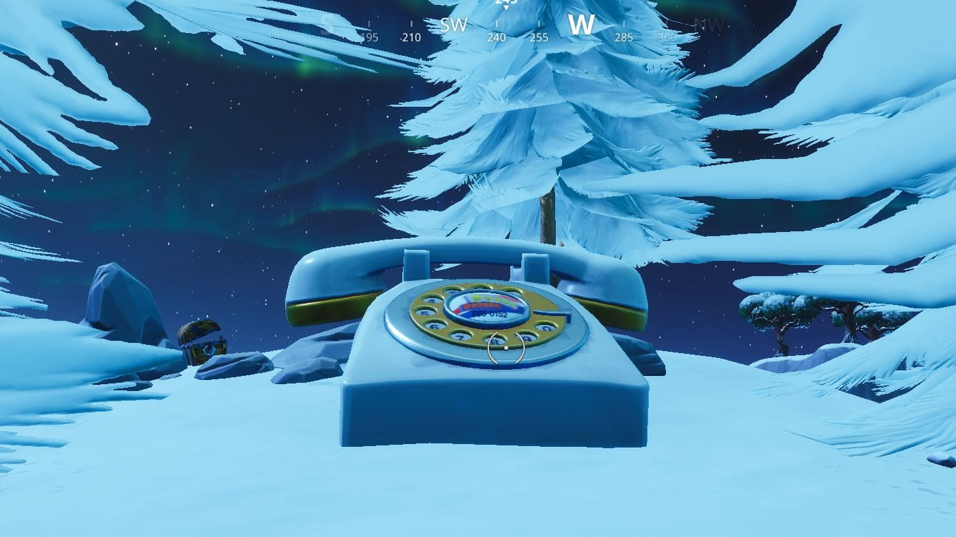big telephone west of Fatal Fields