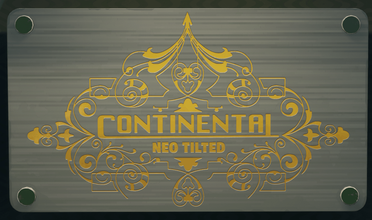 Continental Sign in Neo Tilted