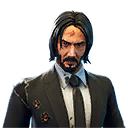 Damage Variant of leaked Fortnite X John Wick Leaked Skin