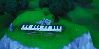 Fortnite Big Piano Challenge Map Location in-game