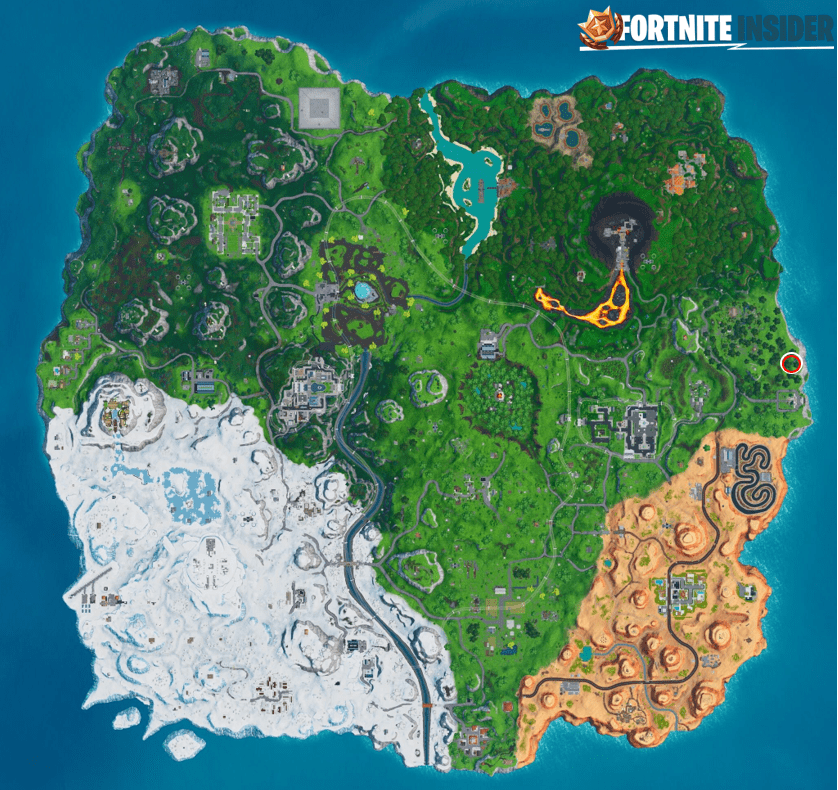 Fortnite Big Piano Challenge Map Location