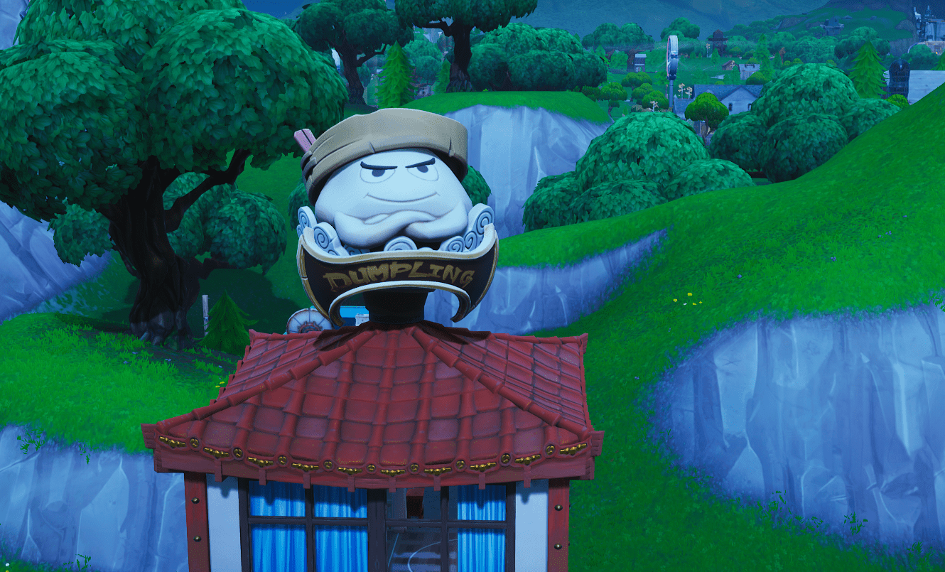 Where to Dance on Top of a Giant Dumpling Head Fortnite Challenge