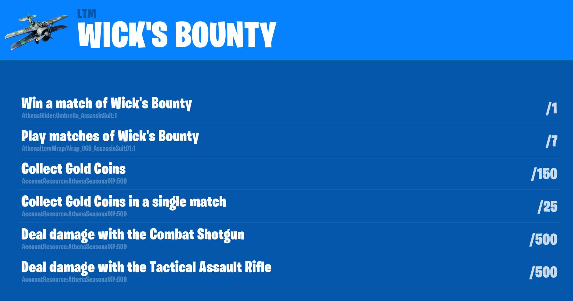 Fortnite John Wick Challenges