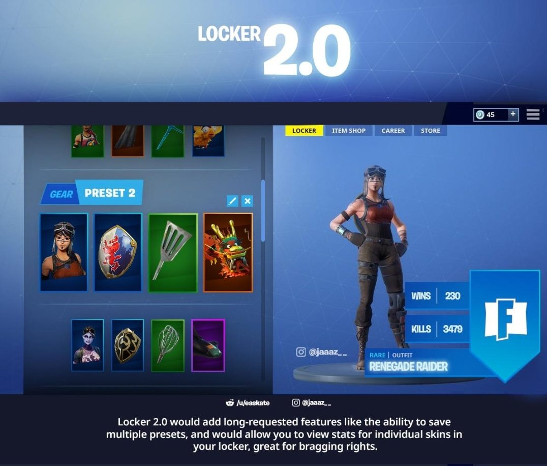 Fortnite Season 9 Preset Skin Selection Concept | Fortnite