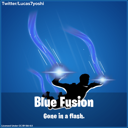 Fortnite PlayStation Exclusive Blue Fusion Contrail