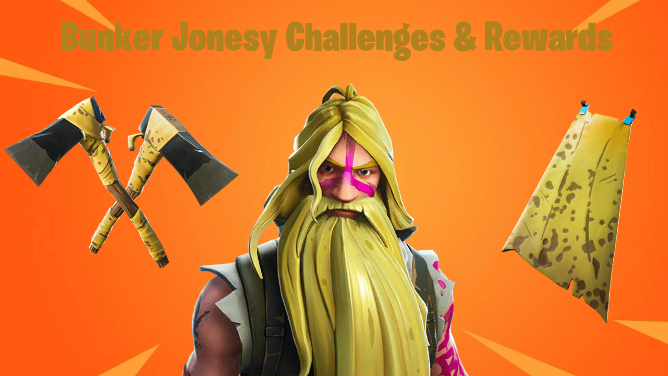 Fortnite Season 9 Battle Pass Bunker Jonesy Challenges & Rewards