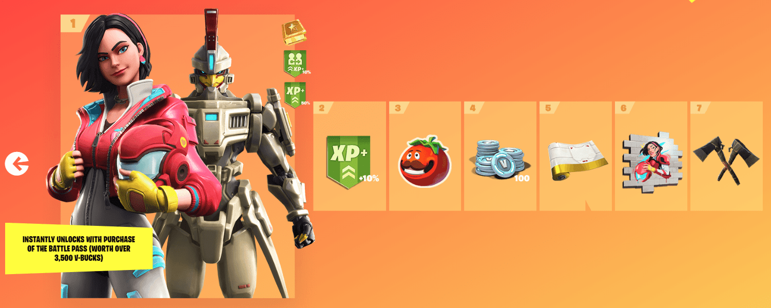Fortnite Season 9 Battle Pass Rewards - Tier 1-7