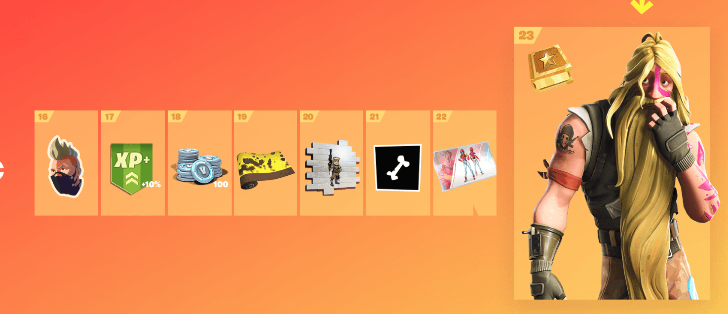 Fortnite Season 9 Battle Pass Rewards - Tier 16-23